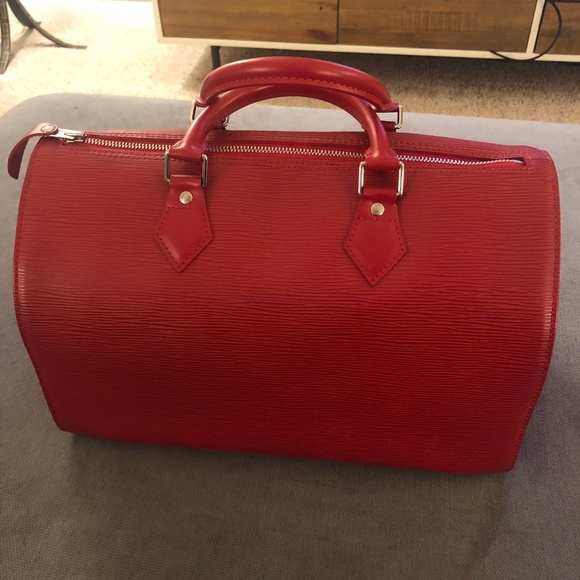 32c63ca7df Louis Vuitton Handbags - Louis Vuitton Speedy 30 in Red Epi Leather